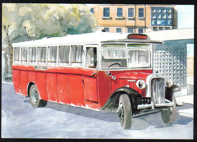 Malta Stamps Maximum Postcard 2011 No 18 Buses Transport - MINT