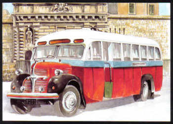 Malta Stamps Maximum Postcard 2011 No 19 Buses Transport - MINT