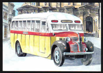 Malta Stamps Maximum Postcard 2011 No 25 Buses Transport - MINT