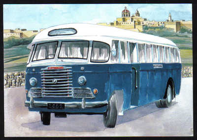 Malta Stamps Maximum Postcard 2011 No 26 Buses Transport - MINT