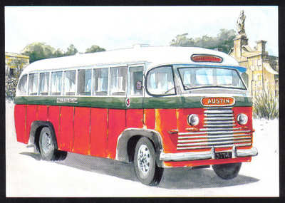 Malta Stamps Maximum Postcard 2011 No 27 Buses Transport - MINT