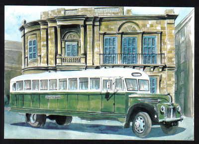Malta Stamps Maximum Postcard 2011 No 28 Buses Transport - MINT