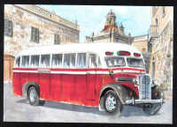 Malta Stamps Maximum Postcard 2011 No 29 Buses Transport - MINT