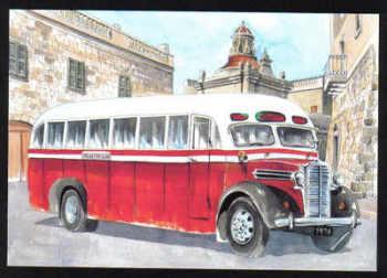 Malta Stamps Maximum Postcard 2011 No 29 Buses Transport - MINT