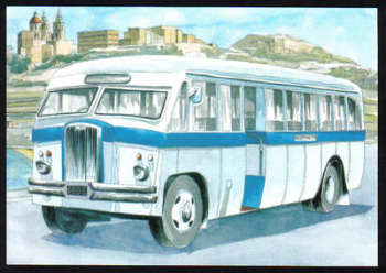 Malta Stamps Maximum Postcard 2011 No 31 Buses Transport - MINT