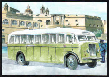 Malta Stamps Maximum Postcard 2011 No 32 Buses Transport - MINT