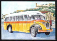 Malta Stamps Maximum Postcard 2011 No 33 Buses Transport - MINT