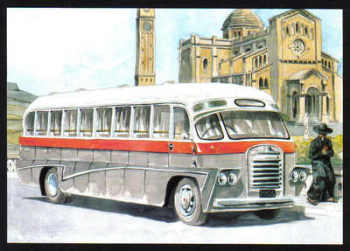 Malta Stamps Maximum Postcard 2011 No 35 Buses Transport - MINT