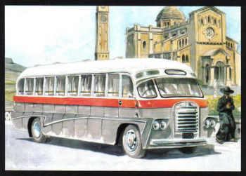 Malta Stamps Maximum Postcard 2011 No 35 Buses Transport - MINT