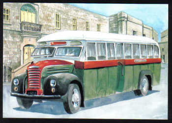 Malta Stamps Maximum Postcard 2011 No 36 Buses Transport - MINT