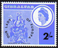 Gibraltar Stamps SG 0195 1966 Re-enthronement of Our Lady of Europe - MINT
