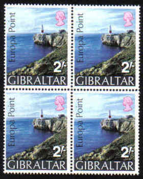 Gibraltar Stamps SG 0247 1970 Europa point - Block of 4 MINT
