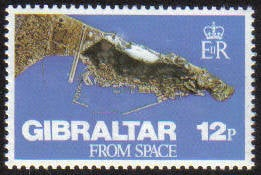 Gibraltar Stamps SG 0398 1978 Gibraltar from space - MINT