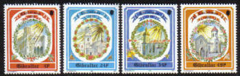 Gibraltar Stamps SG 0686-89 1992 Christmas Churches - MINT
