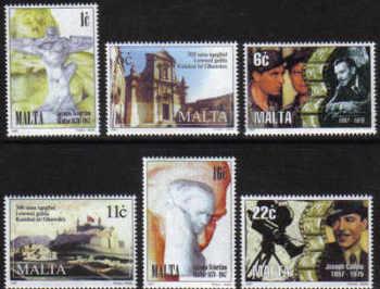 Malta Stamps SG 1048-53 1997 Anniversaries - MINT
