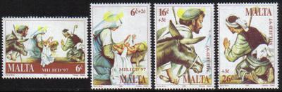 Malta Stamps SG 1058-61 1997 Christmas - MINT
