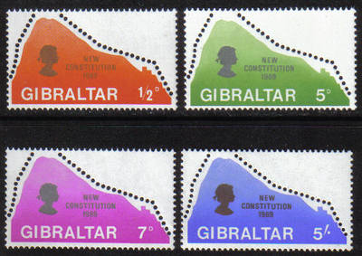 Gibraltar Stamps SG 0236-39 1969 New Constitution - MINT