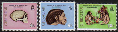 Gibraltar Stamps SG 0310-12 1973 125th Anniversary of Skull Discovery - MIN