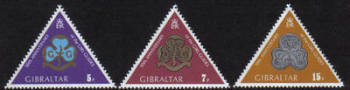 Gibraltar Stamps SG 0346-48 1975 50th Anniversary of Gibraltar Girl Guides - MINT