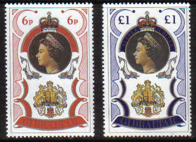 Gibraltar Stamps SG 0371-72 1977 Silver Jubilee - MINT