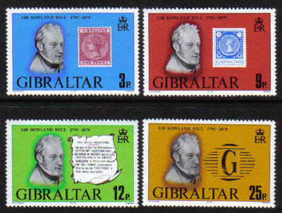 Gibraltar Stamps SG 0416-19 1979 Sir Roland Hill - MINT