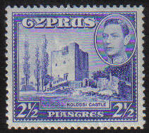 Cyprus Stamps SG 156 1938 2 1/2 Piastre - MINT (g059)