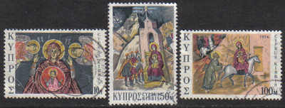 Cyprus Stamps SG 436-38 1974 Christmas - USED (g034)