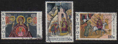 Cyprus Stamps SG 436-38 1974 Christmas - USED (g064)