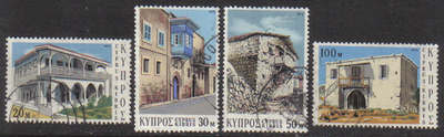 Cyprus Stamps SG 406-09 1973 Traditional Cypriot architecture - USED (g048)