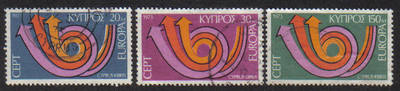 Cyprus Stamps SG 403-05 1973 Europa Posthorn - USED (g036)