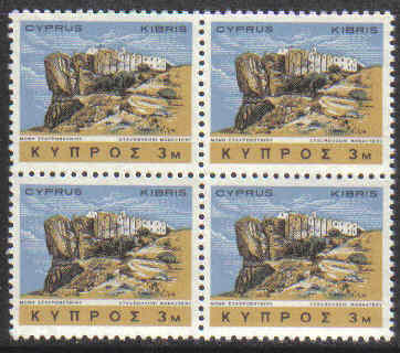 Cyprus Stamps SG 283 1966 3 Mils Block of 4 - MINT