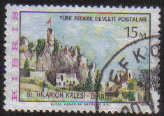 North Cyprus Stamps SG 012 1975 15m - USED (go85)