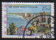 North Cyprus Stamps SG 014 1975 25m - USED (g087)