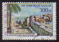 North Cyprus Stamps SG 017 1975 100m - USED (g090)