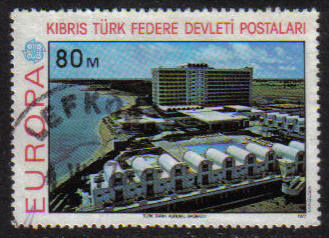 North Cyprus Stamps SG 049 1977 80m - USED (g100)