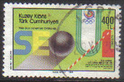 North Cyprus Stamps SG 239 1988 400tl - USED (g137)