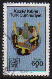 North Cyprus Stamps SG 245 1988 600tl - USED (g138)