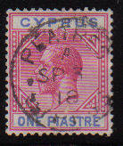 Cyprus Stamps SG 077 1912 One Piastre - USED (d064)