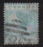 Cyprus Stamps SG 011 1881 Half Piastre - USED (d813a)