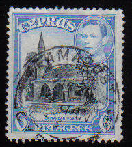 Cyprus Stamps SG 158 1938 KGVI  6 Piastres - USED (c515)
