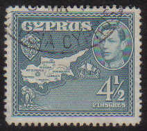 Cyprus Stamps SG 157 1938 KGVI  4 1/2 Piastres - USED (g208)