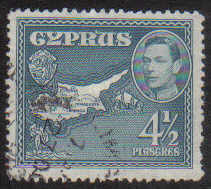 Cyprus Stamps SG 157 1938 KGVI  4 1/2 Piastres - USED (g209)