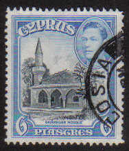 Cyprus Stamps SG 158 1938 KGVI 6 Piastres - USED (g213)