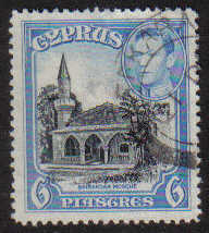 Cyprus Stamps SG 158 1938 KGVI 6 Piastres - USED (g214)
