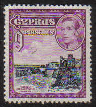 Cyprus Stamps SG 159 1938 KGVI 9 Piastres - USED (g219)
