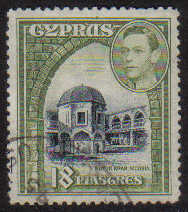 Cyprus Stamps SG 160 1938 KGVI 18 Piastres - USED (g222)