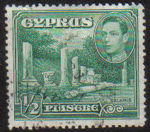 Cyprus Stamps SG 152 1938 KGVI 1/2 Piastre - USED (g152)