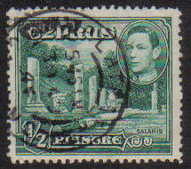 Cyprus Stamps SG 152 1938 KGVI 1/2 Piastre - USED (g153)