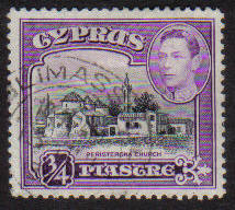 Cyprus Stamps SG 153 1938 KGVI  3/4 Piastre - USED (g160)