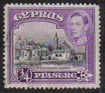 Cyprus Stamps SG 153 1938 KGVI  3/4 Piastre - USED (g161)